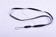 100pcs Black long Neck Strap lanyard FOR ID CARD HOLDER badge holder length:18''(45cm) wide 9mm(China (Mainland))