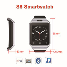 Original 3G Smartwatch ZGPAX S8 Smart Watch Android With MTK6572 Dual Core 3.0MP Camera WCDMA GSM GPS TF Support Relogio Android