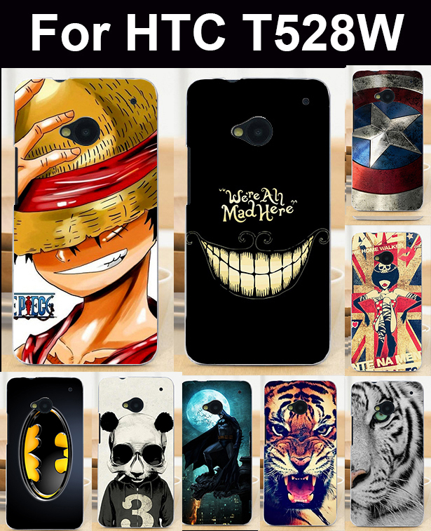 Cell Phone Bags Housings For HTC Desire 400 /One SU T528W Case Cover Skin Shell Covers Marvel Captain American Batman Shield(China (Mainland))
