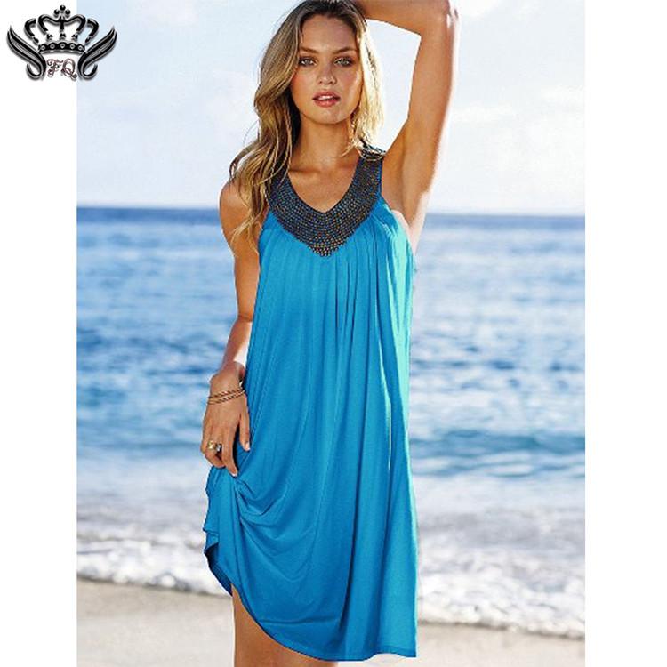 Hot Sexy Women Summer Spring Autumn Holiday Boho Long Knee-Length Sleeveless Casual Maxi Beach Dress Evening Party Dresses 2016