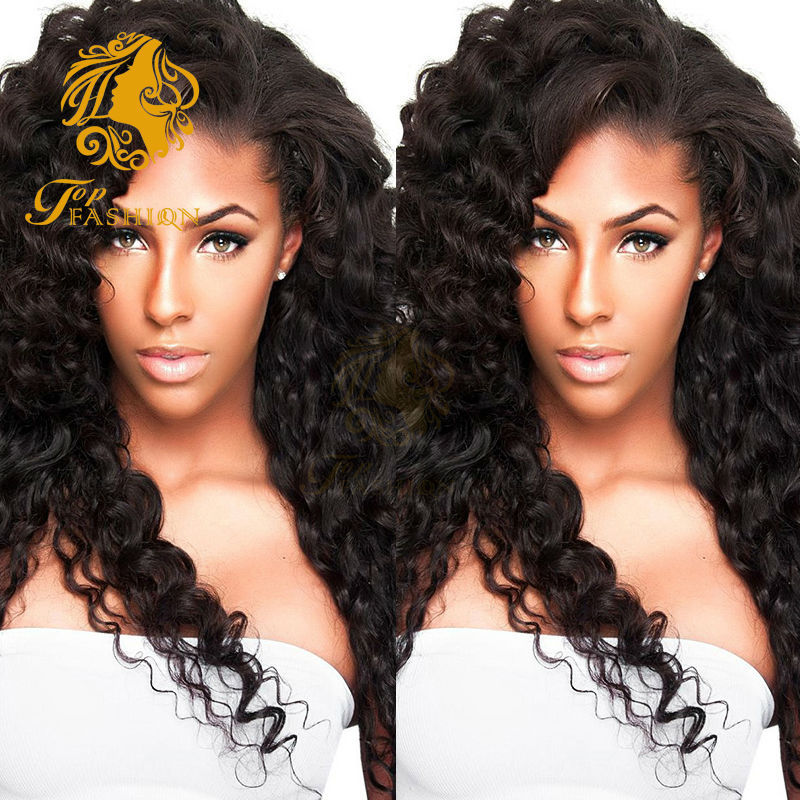Rosa Hair Products Brazilian Virgin Hair Deep Wave 4 Bundles