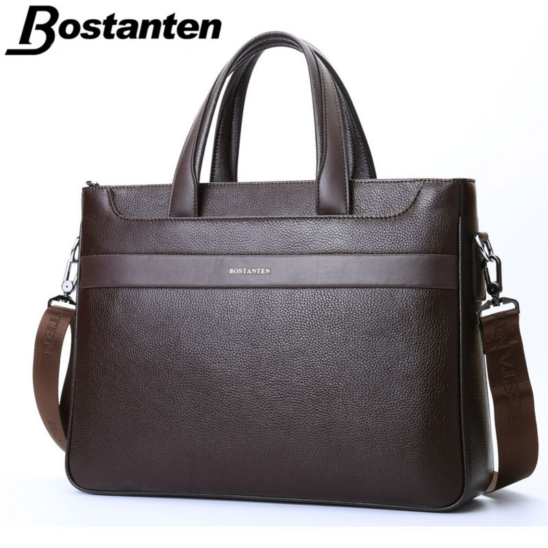 Bostanten Guaranteed Genuine Leather Men's Briefcase Messenger Bags Business Travel Bag Man leather vintage bags shoulder bag(China (Mainland))