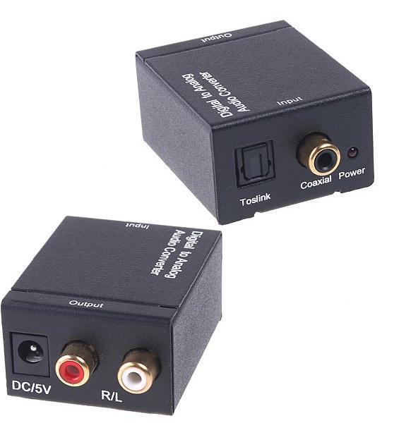 Hdmi Vga 2014 Real free Shipping 10pcs/lot By Dhl Converters for Audio Converter Digital Optical Coax Toslink To Analog Adapters(China (Mainland))