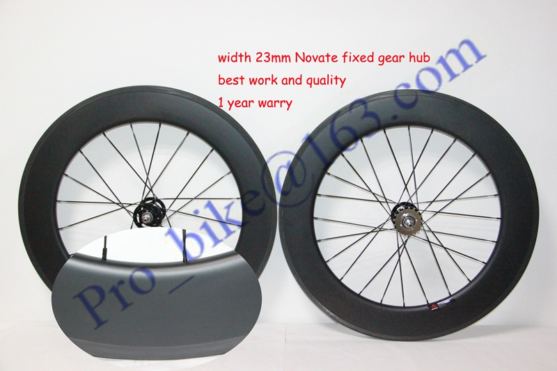 Fixed gear carbon wheelset 88mm carbon wheel with UD matte with width 23mm free shipping carbon wheel China(China (Mainland))