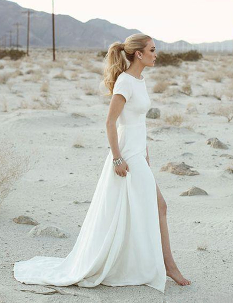 Beach wedding dresses casual short wedding dresses in jax for Wedding dress for a short bride