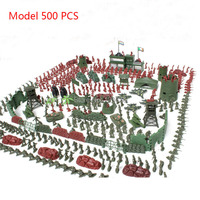 Small soldiers set model world war ii 500 piece army toys Military suit boy military toy soldier set children's toys