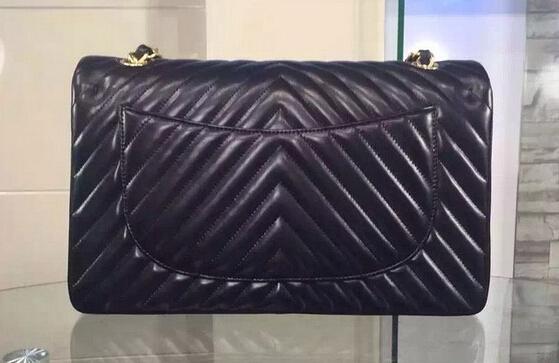free shipping top quality 25.5cm lambskin classic flap bag genuine women jumbo  v  shoulder bag black gold hardware double v<br><br>Aliexpress