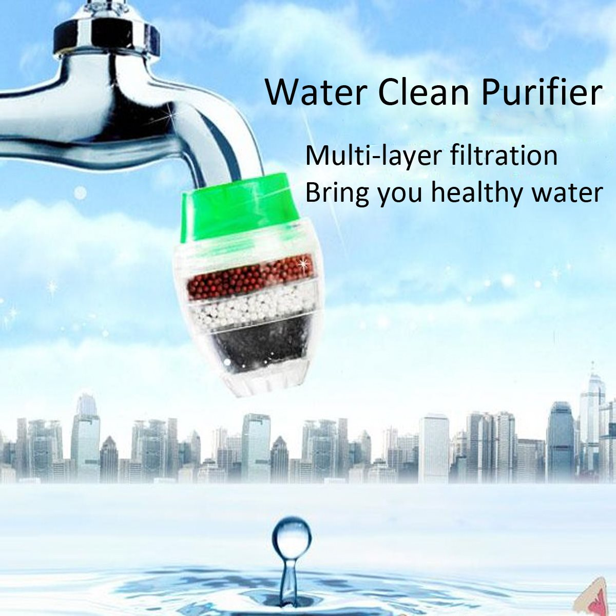 Carbon Home Household Kitchen Mini Faucet Tap Water Clean Purifier Filter Filtration Cartridge 2 Size(China (Mainland))