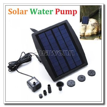 High quality Solar Power Water Pump Decorative Fountain for Garden Pond Pool Water Cycle 7.2V Dropshipping