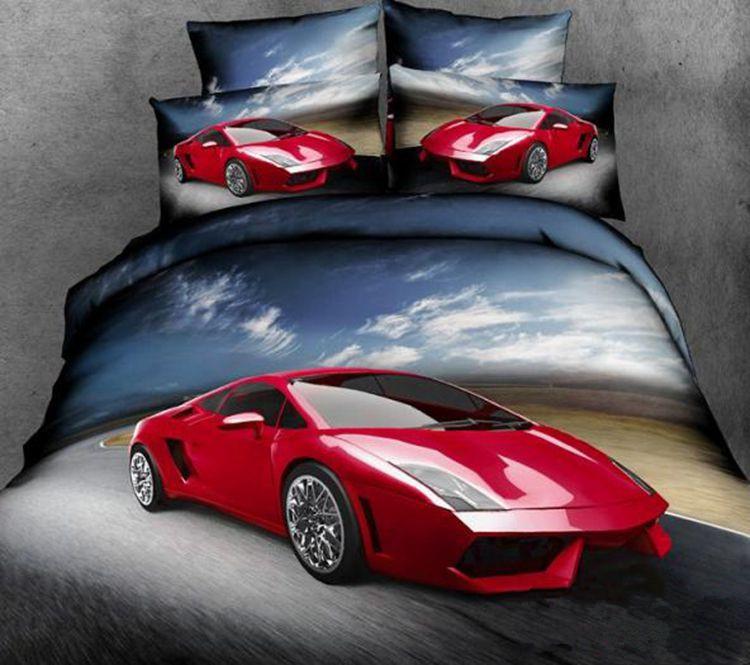 Achetez en gros voiture housse de couette en ligne des - Housse de couette voiture de course ...