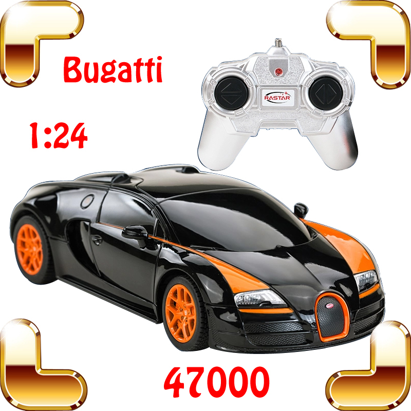 Hotsale Rastar 47000 1/24 Bugatti Veyron RC Car King Of Road Model Racing speed Voiture Auto Vehicle with color Box Best Gift(China (Mainland))