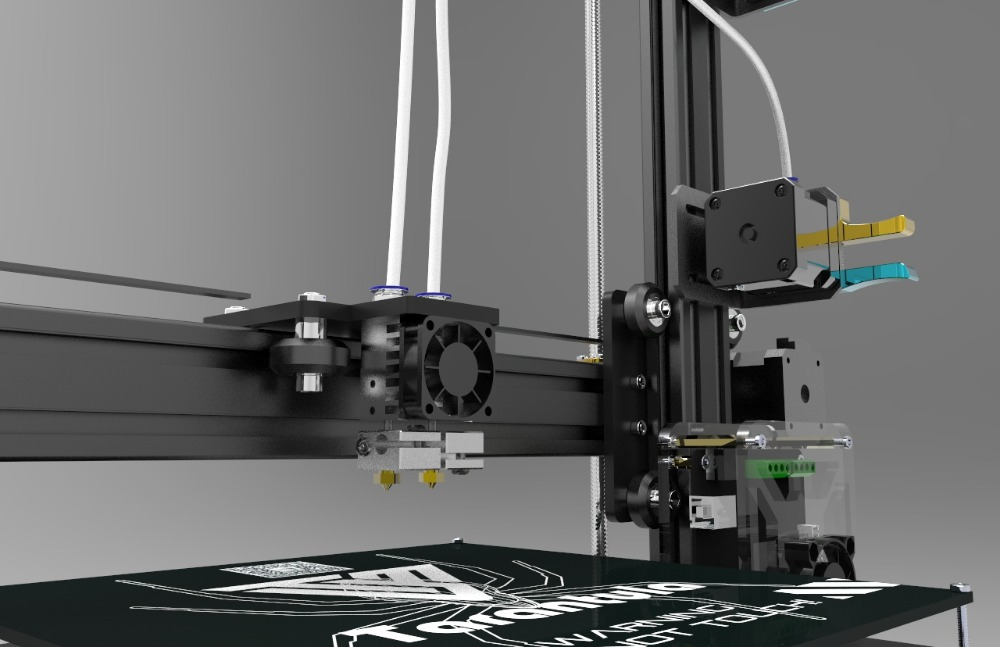 Large MK3 Plate Dual Extruder Tarantula I3 Aluminium Extrusion 3D Printer kit printer 3d 2 rolls