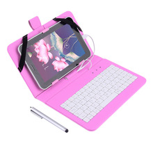 "New 7"" PU Leather Case Cover With USB Keyboard for 7"" inch Android Tablet PC  Wholesale(China (Mainland))"