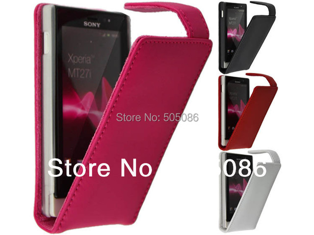 High Quality genuine Leather Case For Sony xperia sola mt27i MOQ Leather Case For Mt27i Free Shipping