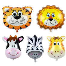 2016 1pcs  Big size 78*89cm Animal ZOO Foil Balloons Classic Toys Decoration Party inflatable air balloons