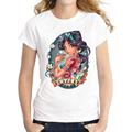 Newest 2016 fashion Princess Retro printed women t shirt Snow White Siren Royalty Betty Boop summer