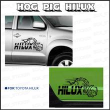 2 piece hilux HOG Pig 600mm side stripe graphic Vinyl sticker for TOYOTA HILUX decals(China (Mainland))