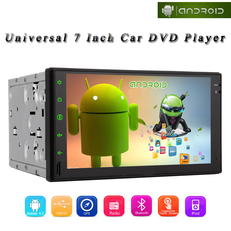 """Car Radio Player Car Stereo Android 4.2 Double 2 Din GPS NavigationHD Multi-touch 7"""" Screen Headunit WiFi NO DVD Bluetooth iPod(China (Mainland))"""