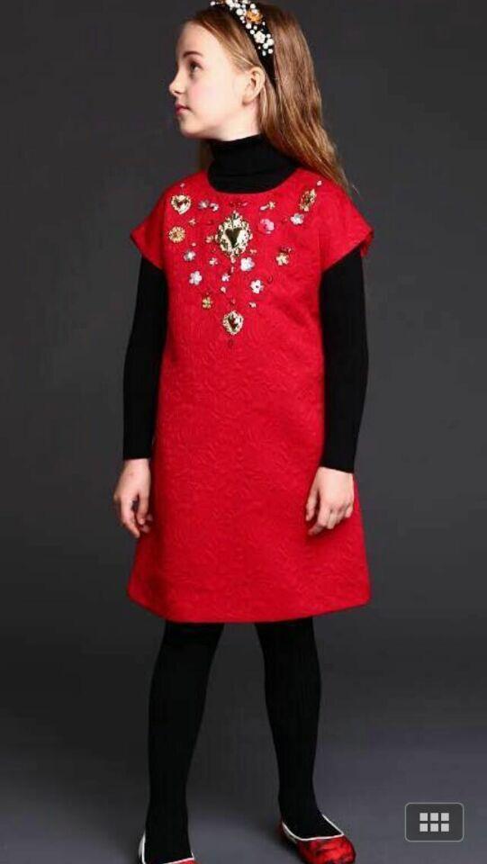 2015 Autumn Winter Girl Dress Handmade Kids Clothes Designer Sequined Children Dress Kids Dresses for Girls Reine Des Neiges(China (Mainland))