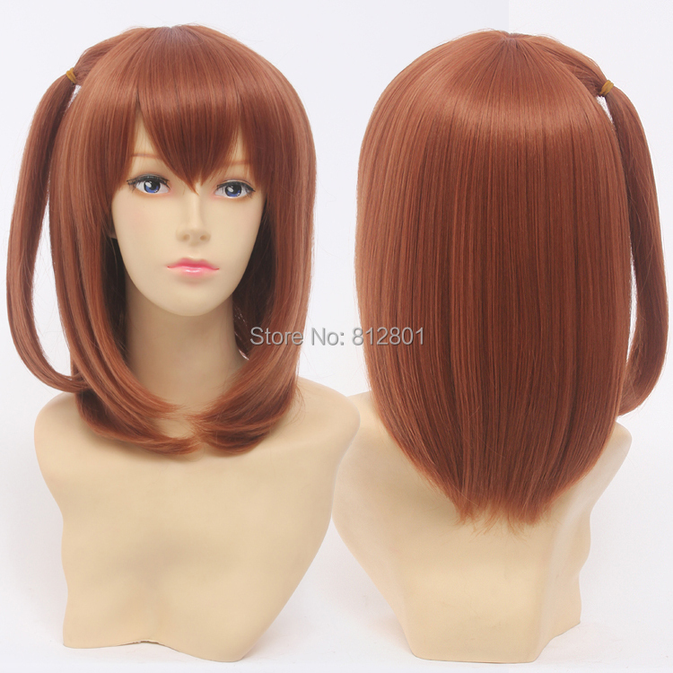 2pcs/Lot Package sale of Love Live Anime Character Kousaka Honoka /Nishikino Maki Hair Wigs Short Cosplay Wigs<br><br>Aliexpress