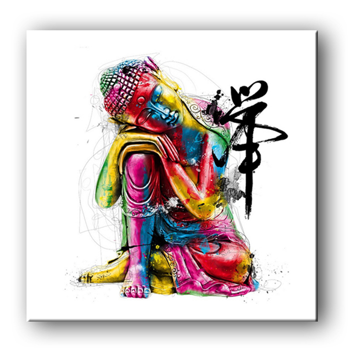 Free Shipping E-HOME Oil Painting Buddha Decoration Painting One Pcs Home Decor On Canvas Modern Wall Prints(China (Mainland))