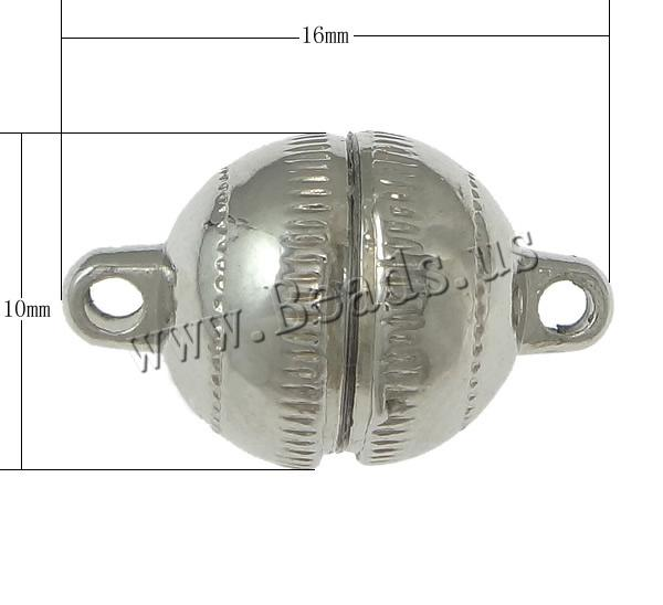 Free shipping!!!Brass Magnetic Clasp,Cheap Jewelry Wholesale, Round, platinum color plated, nickel, lead & cadmium free