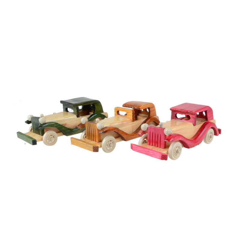 2015 Child retro classic car wooden toy car simulation model crafts Home Decoration baby infant children's toys(China (Mainland))