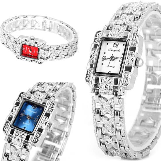 2015 New Women Wristwatches Rectangle Dial Bracelet Band Watch Watches Women Fashion Luxury Ladies Quartz Watch<br><br>Aliexpress