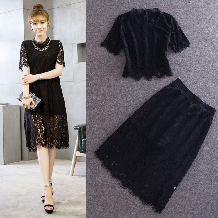 2015 new summer clothing wholesale and show beautiful full lace major suit short sleeved suit fashion(China (Mainland))