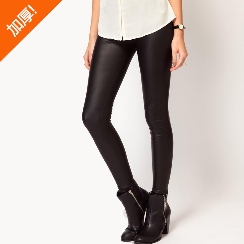 plus velvet thickening thermal matt faux leather high waist pants legging bsk fashion autumn. Black Bedroom Furniture Sets. Home Design Ideas