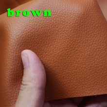 Brown Small Lychee PU leather, Faux Leather Fabric, PU artificial leather. Upholstery leather, Sold BY THE YARD, FREE SHIPPING(China (Mainland))