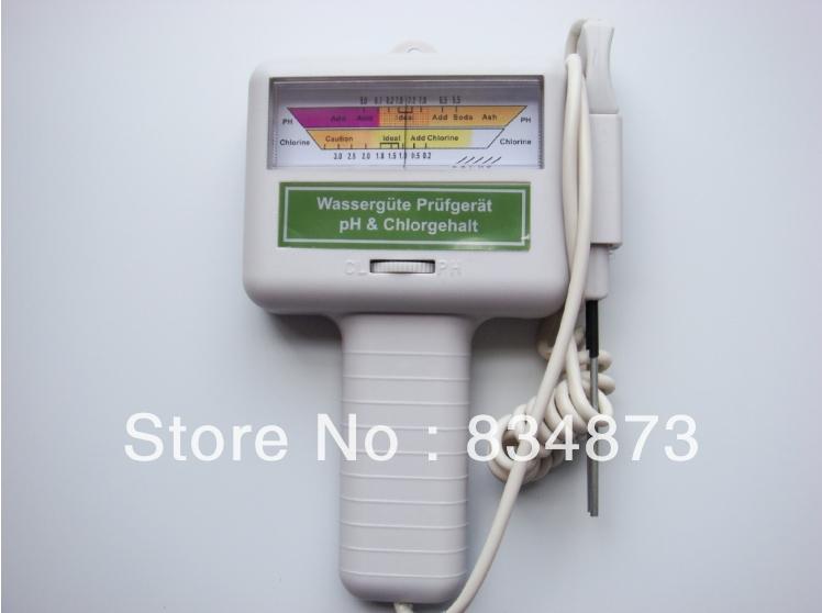 Electronic Swimming Pool Spa Water PH/CL2 Chlorine Tester Meter PH Pool water tester PH and CL tester(China (Mainland))