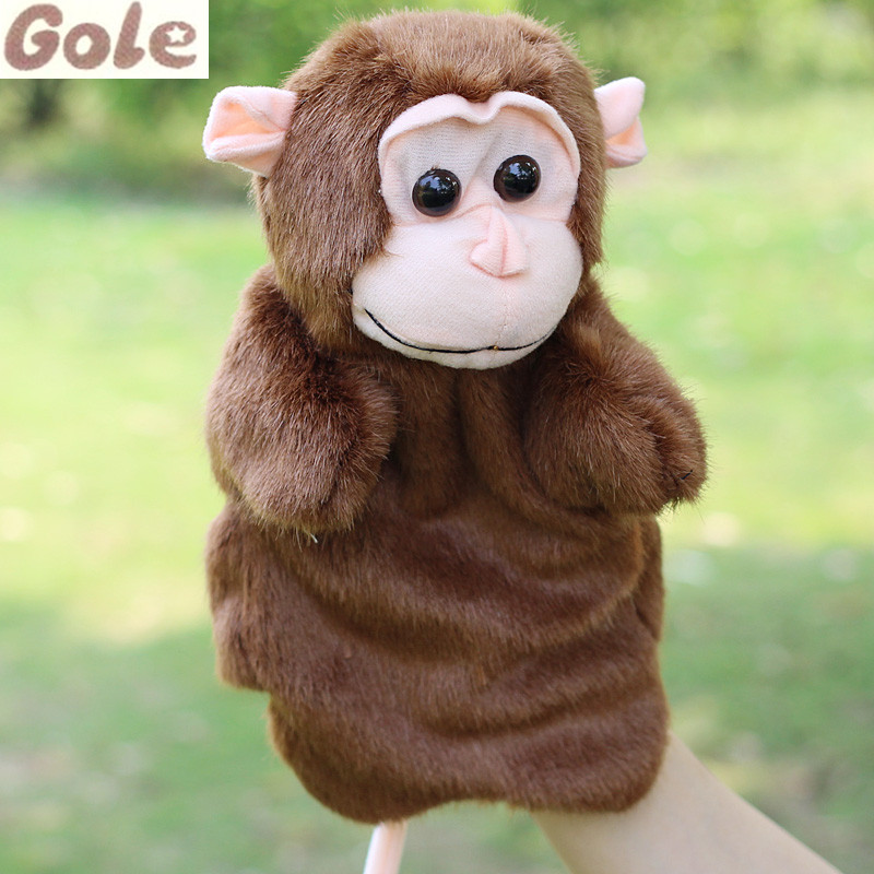 Monkey Family Finger Puppets Handcraft For Kids Marionetas De Mano Zoo Party Baby Born Doll Brinquedo Toy Story Ventriloquist(China (Mainland))
