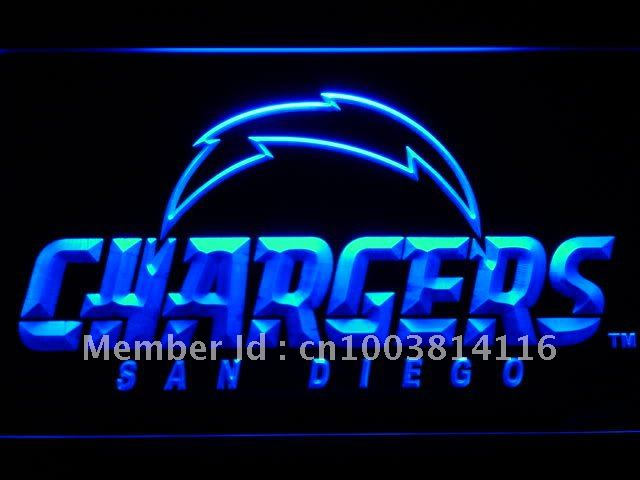 b803-b San Diego Chargers alternate LED Neon Light Sign(China (Mainland))