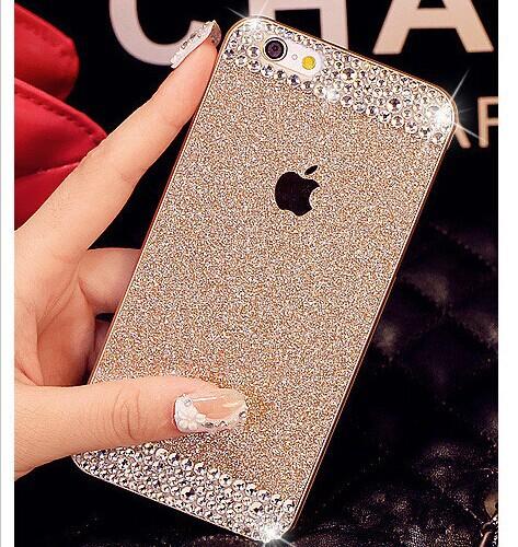 Luxury Handmade Bling Diamond Glitter Rhinestone Hard Back Women Case Cover For iphone 6 Plus 6 5 5s Shell Anti-knock Phone Bag(China (Mainland))