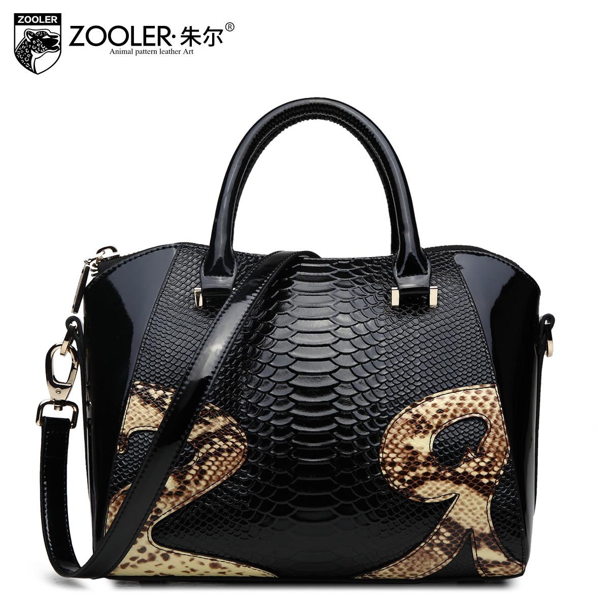Autumn and winter women's cowhide handbag 2015 fashion serpentine pattern women's bucket bag handbag female