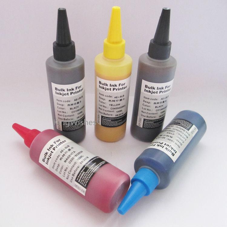 5 Bottles T0731N T0731N T0732N T0733N T0734N Sublimation Ink For Epson Stylus TX510FN Inkjet Printer