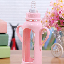 Baby Nipple Round Hole Silicone Infant Pacifier Milk Bottle Nipples Simulation Teat Baby Supplies YE01096(China (Mainland))