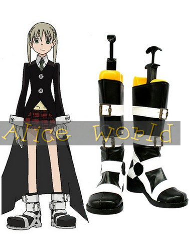 Soul Eater Maka Imitated Leather Foam Cosplay Shoes party Hallowmas Free Shipping(China (Mainland))