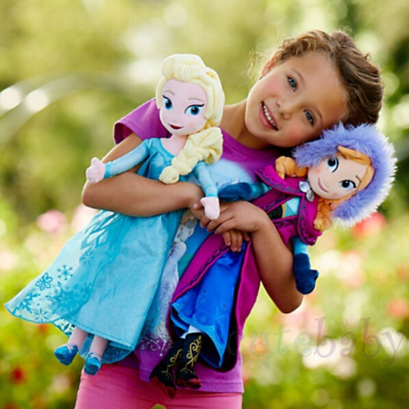 Hot sale high quality plush toy Snow Queen princess 40cm Anna and Elsa Brinquedos Even Olaf best toy for kids(China (Mainland))