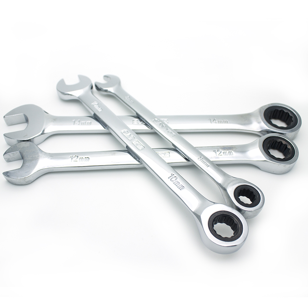 4PCS/set High Quality Low Price Ratcheting Box Wrench Set hand wrench SAIKE Hand Tool Metric Ratchet Wrench Set 8-19mm