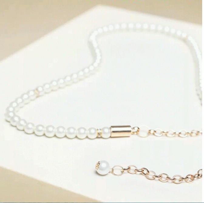 Fine decorative waist chain female group chain fashion wild pearl inlay Rhinestone belt Tie-in dress(China (Mainland))