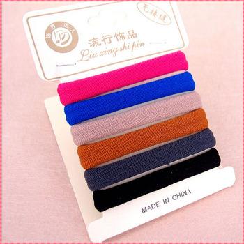 High quality hair accessories women girls kids fashion elastic hair band candy color black hair ropes ornaments headwear #JH064