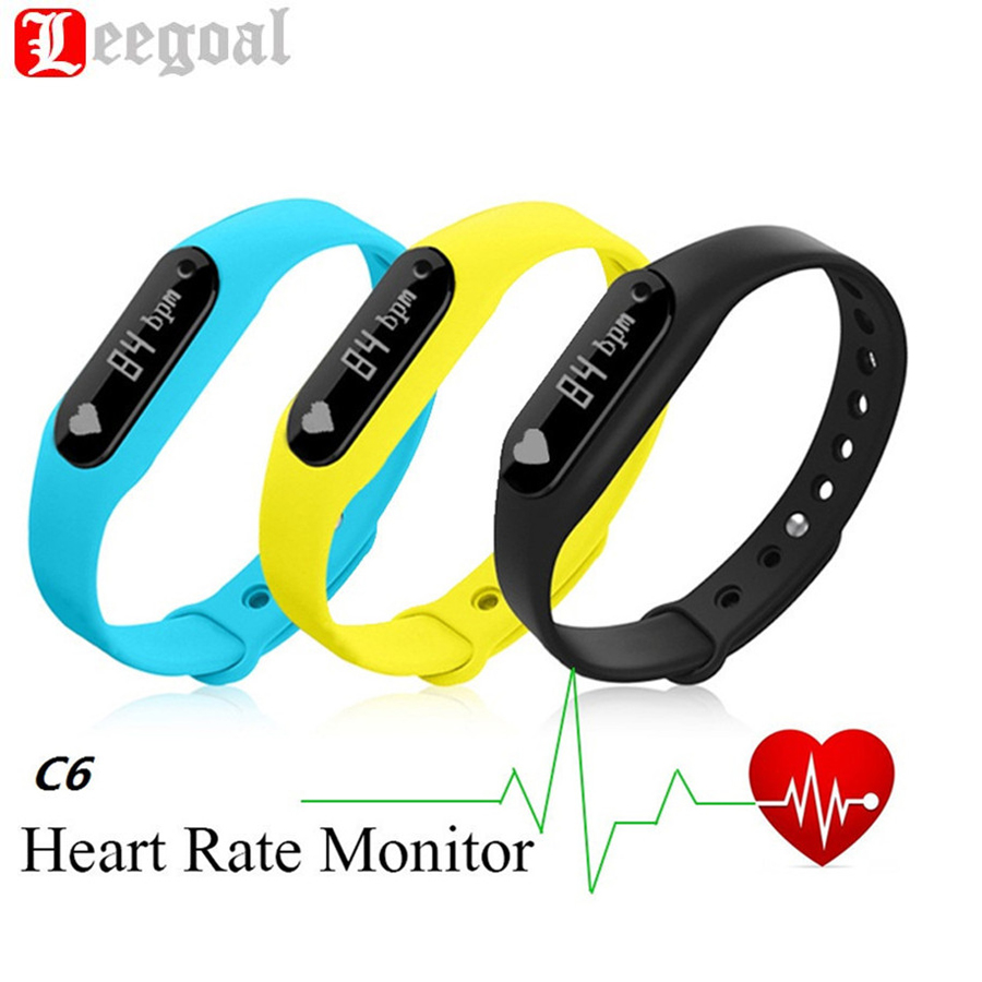 C6 Smart Bracelet Passometer Fitness Tracker Heart Rate Monitor Smartband SMS Call Reminder Touch Screen Wristband For Phone(China (Mainland))