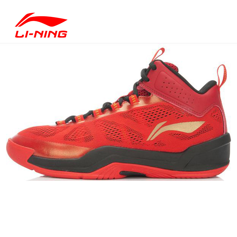 LI NING Outdoor Basketball Shoes Men Tuff RB Lace Up Damping Breathable Sneakers Sport Shoes ...