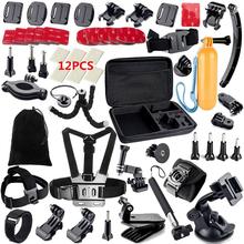 Gopro  Accessories Set Helmet Harness Chest Belt Head Mount Strap Monopod Gopro Hero 4 3+ 2 1 xiaomi yi  GS13   Free shipping