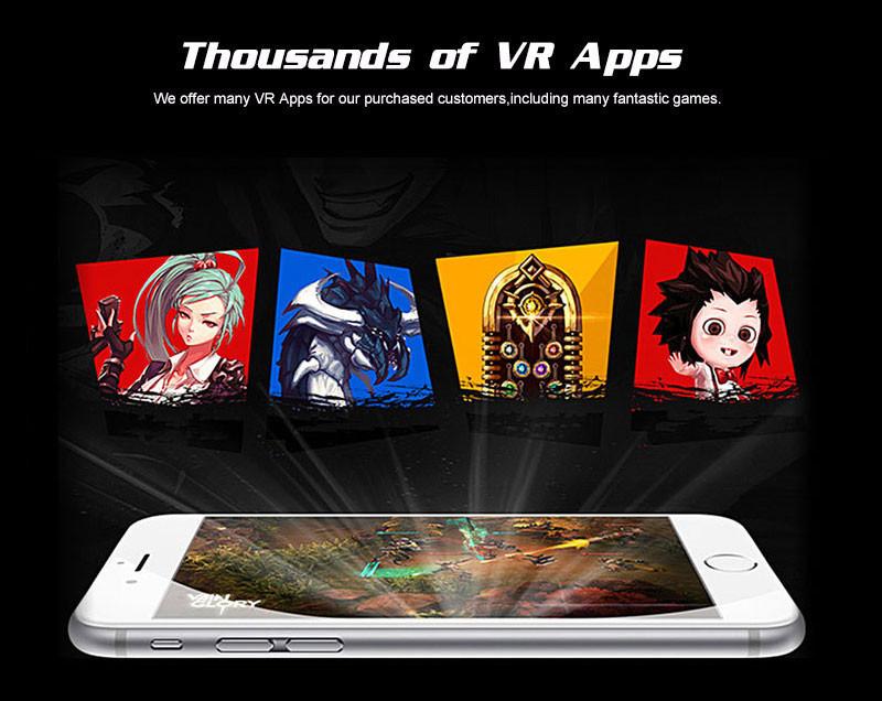 Original VR Box 2.0 Virtual Reality Glasses 3D VR Box Google Cardboard Rift Immersive for 4.7-5.7 smartphone