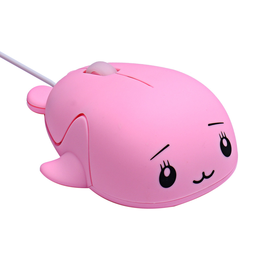Mini Cute Dolphin Game Mouse USB Wired Whale Shaped Optical Mouse(China (Mainland))