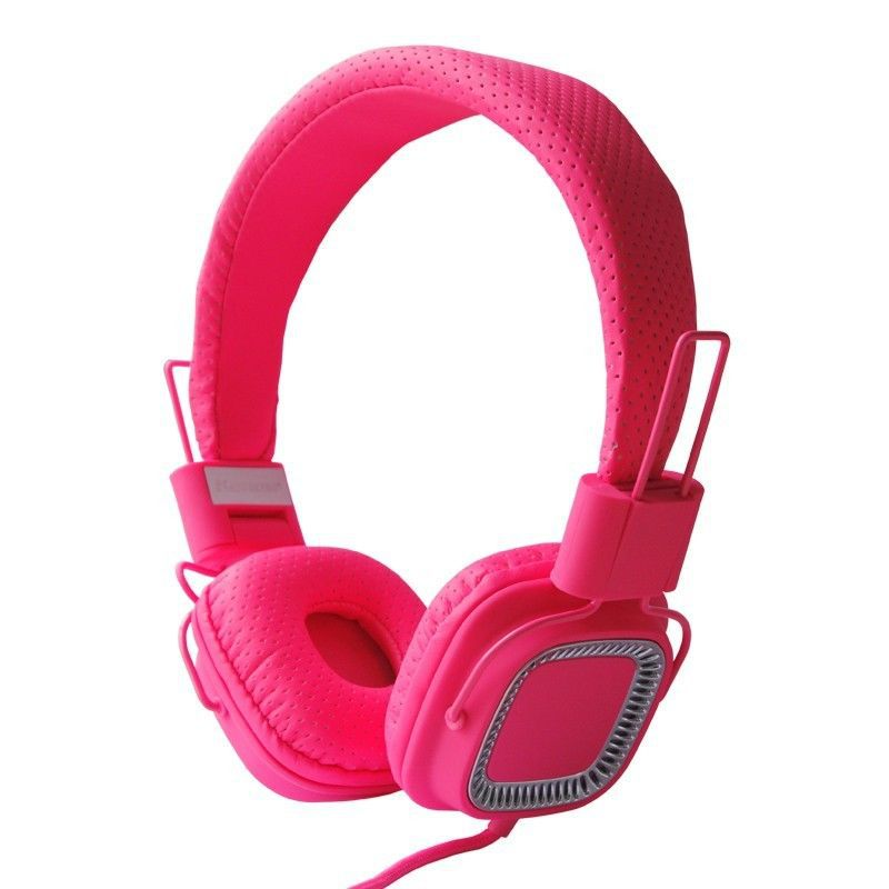 Foldable Childrens Kids Over the head DJ Headphones Headsets iPod Kindle HD Pink(China (Mainland))