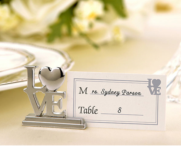 2015 Wholesale 1000 Pcs/Lot Silver Love Place Card Holder for Bridal Shower Wedding Favor / Dinner Party Table Decoration(China (Mainland))